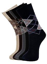 Vinenzia Mens Socks (Pack Of 5) (Multi-Coloured_Free Size)