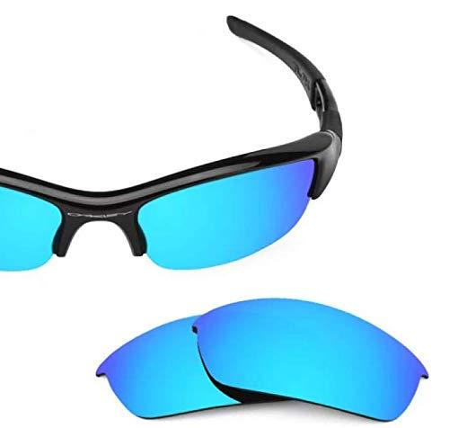 sunglasses restorer Kompatibel Ersatzgläser für Oakley Flak Jacket, Polarisierte Ice Blue Gläser