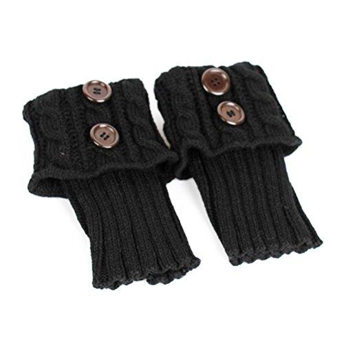 PIXNOR Bein Stulpen Stiefel stricken Socken Stulpen Boot Cover halten warme Socken (schwarz)
