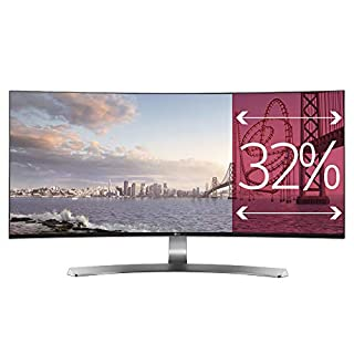 "LG 34UC98-W Ultrawide Écran PC LED IPS incurvé - 34"" - 21:9 - 3440 x 1440 QHD - 300 cd/m2 - 1000:1 - 5 ms - Argent (2xThunderbolt, 2xHDMI, DisplayPort, USB 3.0) (B01AWG5VIM) 
