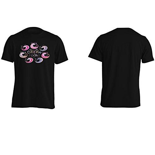 Unicorno divertente nuovo buon positivo ispirare Uomo T-shirt d138m Black