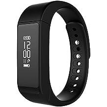 """LaTEC Brazalete Inteligente deportivo Bluetooth 4.0 con pantalla táctil OLED de 0.91"""" y seguidor de actividad con podómetro, contador de pasos, monitor de sueño y calorías, para Android y iPhone IOS (Negro)"""