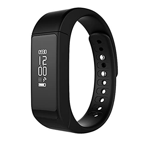 GSTEK Fitness Tracker Bracelet Connecté Smart Fitness Bracelet Health Tracker Activité Bracelet pour iPhone iOS Android et Sommeil Podomètre Calorie Distance Notifications Alertes Mémos et Réveil