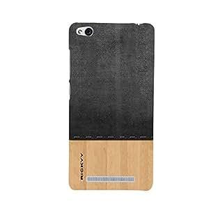 RICKYY _Mi3s_1035 Printed Matte designer Black and pista color wood case for Redmi 3S