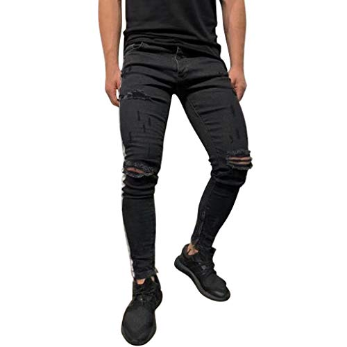 Byste_uomo pantaloncini da corsa da uomo,costumi da bagno,pantaloni uomo jeans strappati neri,nero,xxxl