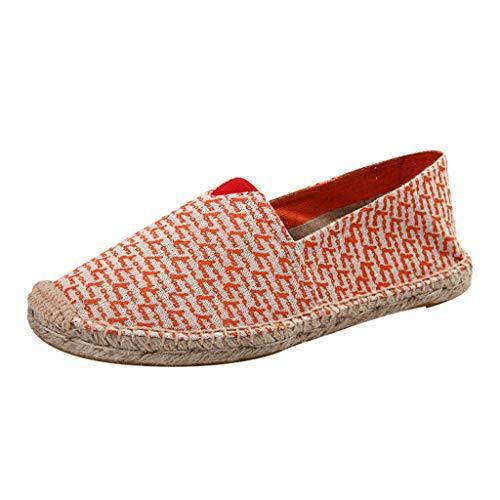 Männer Frauen Segeltuch-Schuhe, ODRD Schuhe Shoes Paar Haltbare Beiläufige Müßiggänger Arbeiten rutschfeste Flache Segeltuch-Schuhe um Beach Hausschuhe Clogs Sport -