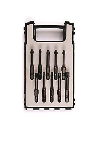 10pièces de mèches Croix/Visseuse Torx, 50mm de long, Impact Bit, torxbit, cruciforme