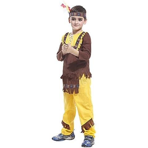 GIFT TOWER Niño Disfraz Príncip India Uniforme Cazador Cosplay Para Halloween Asia L Para niño 120-130cm