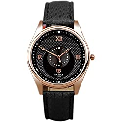 OUMOSI Men Business Quartz Watch Retro Roman Numerals Dial Wristwatch