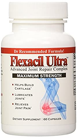 Flexacil Ultra - (3 bottles) Joint Support and Pain Relief Formula - Premium grade Glucosamine, Chondroitin, MSM, Hyaluronic acid and Omega 3 Fish