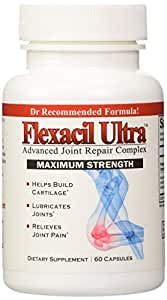 Flexacil Ultra - (3 bottles) Joint Support and Pain Relief Formula - Premium grade Glucosamine, Chondroitin, MSM, Hyaluronic acid and Omega 3 Fish Oil