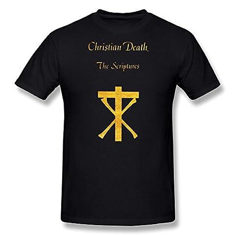 Homme's Christian Death T-Shirt- noir
