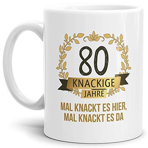 """Tassendruck Geburtstags-Tasse Knackige 80"""" Geburtstags-Geschenk Zum 80. Geburtstag/Geschenkidee/Scherzartikel/Lustig/Witzig/Spaß/Fun/Mug/Cup Qualität - 25 Jahre Erfahrung"""