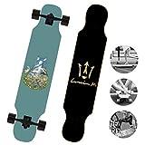 DUBAOBAO Skateboard Straight-Fall - Longboard per Skateboard per Bambini - Skateboard per Principianti, tavola da Cruiser Dritta,4