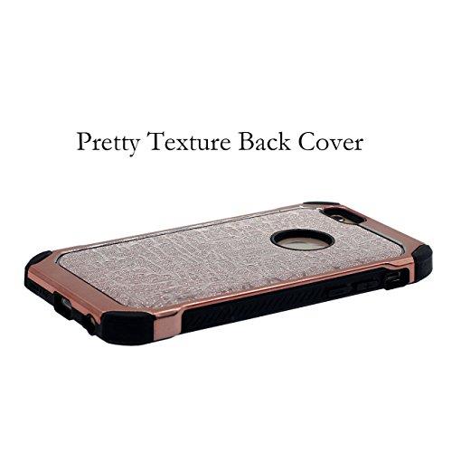 iPhone 6S Plus Coque, Dur Plastique Poids léger Anti Choc Briller Soulagement Motif Style de luxe Housse de Protection case pour Apple iPhone 6 Plus 6S Plus 5.5 inch avec 1 stylet Or rose