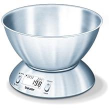 Beurer KS 54 - Balanza de cocina con bol, termómetro integrado, 5 kg/
