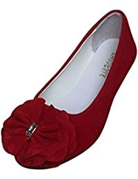 Estate Donna Ballerine Basic in Ecopelle Elegante e Moda Scarpe Basse  Grande Taille 1172fc9c122
