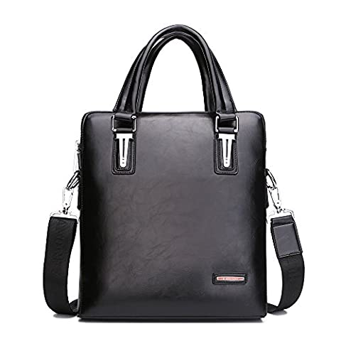 HUTEAMO Sac à main en cuir véritable Messager à bandoulière NEY Hommes Cross Body Bag Pour Business Casual