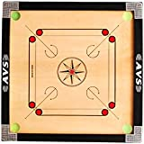 Avs Traders Medium Size Gol Pocket Carrom Board With [2 Pc Multi Colour Strikers , 1 Pc Carrom Powder(20Gm) & 1 Set Wooden Carrom Coins(20Pc)].....((((Free Of Cost))))_66.04Cm