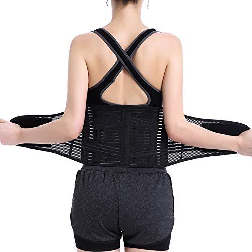AOSTFOX Rückenbandage Stützgurt - lindert Schmerzen im unteren Rücken, Ischias, Skoliose, Bandscheibenvorfall oder Bandscheibendegeneration,S