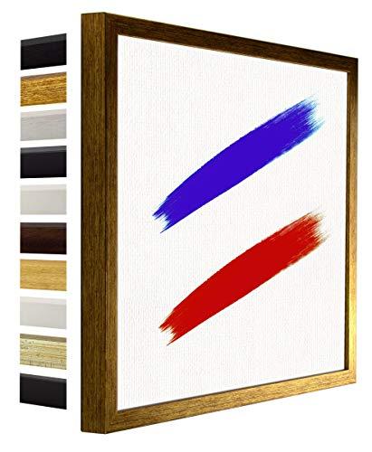 myposterframe Nordica Leerrahmen für Leinwand Bilder 30 x 40 cm Bilderrahmen Holz Größenwahl 40 x 30 cm Farbwahl Gold Antik ohne Verglasung (Bilderrahmen Verglasung)