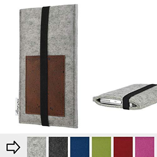 flat.design Handy Hülle Sintra für Energizer P20 handgefertigte Handytasche Filz Tasche Schutz Case Kartenfach Kork