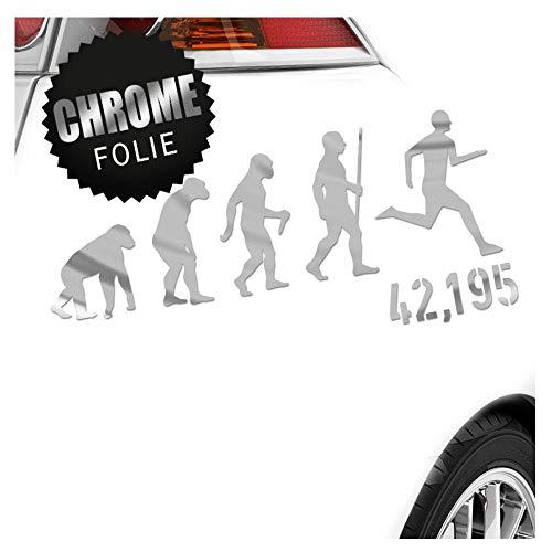 Kiwistar 42,195 Marathon Evolution Aufkleber Sticker 25 Farben Neon Matt