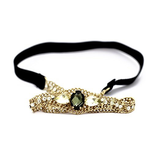 Elite Models (France) Prestige Series Designer Hair Ornament / Elastic Hairband / Head Chain / Headband For Women And Kids - Gold | Latest Designs Imported Daily Or Party Wear Girls Accessories, Decorative Head Bands, Head Pieces, New Style Grips, Hair Wraps, Jewelry