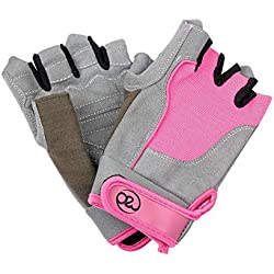 Fitness Mad - Guantes de entrenamiento para mujer, color rosa - Medio