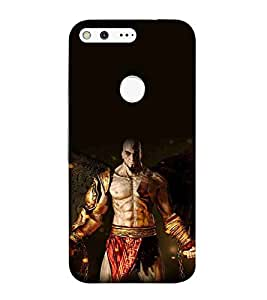 For Google Pixel dangerous man ( dangerous man, man with sword, sword, fire ) Printed Designer Back Case Cover By TAKKLOO
