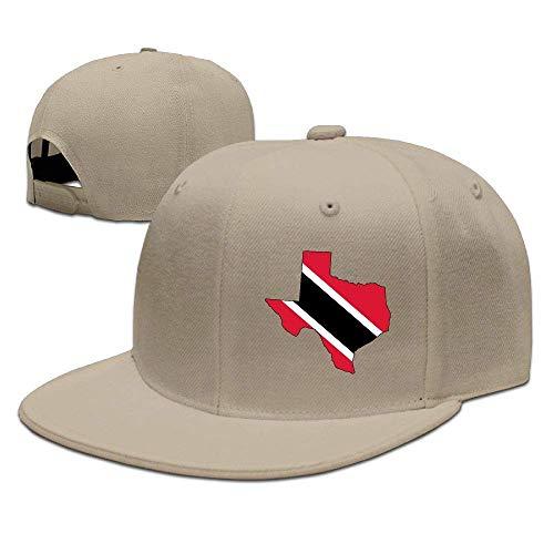 DAIAII Herren Baseball Caps,Hüte, Mützen, Classic Baseball Cap, Trinidad Flag of Texas Map Men & Women Adjustable Plain Baseball Cap Snapback Trucker Baseball Cap for Running