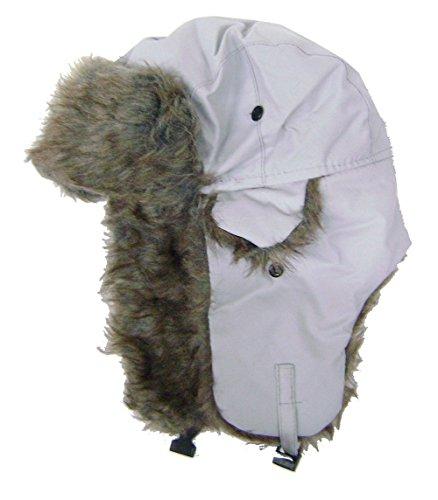modestone-warm-trapper-bomber-hat-faux-fur-trim-o-s-grey