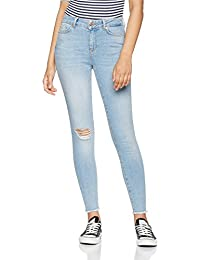 VERO MODA Vmseven Nw Ss Ankle Raw Edge Ba958 Noos, Jeans Mujer