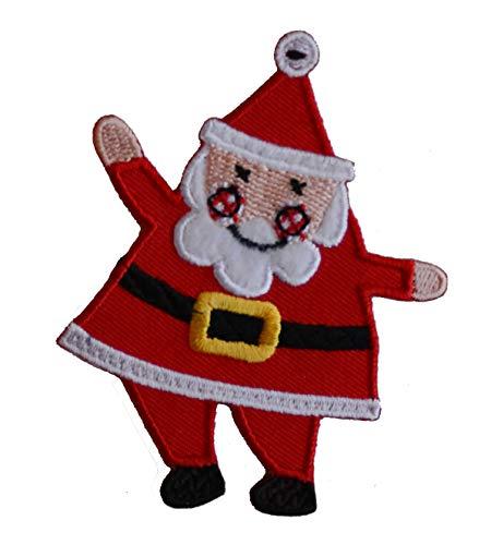 TrickyBoo 2 Aufbügler Weihnachtsmann 7X9cm U-Boot 10X8cm Set Aufnäher Flicken Applikationen zum Ausbessern von Kinder Kleidung mit Design Zürich Schweiz für Deutschland und Österreich -