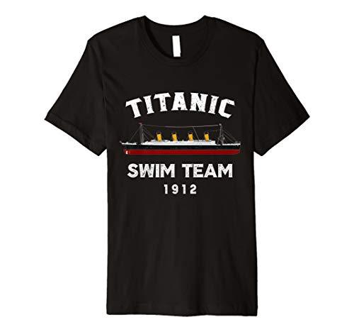 Titanic Swim Team Costume T shirt Tee Gift Atlantic Ocean - Swim-team T-shirts