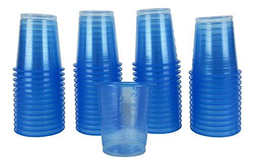 Cacheva 566279 Medizinbecher Medikamentenbecher Schnapsbecher einweg 450 Stück Blau