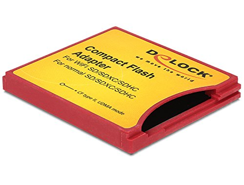 Delock 62542 cavo di interfaccia e adattatore cf type ii sd rosso, giallo