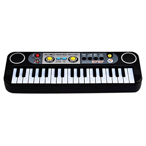 WOLFBUSH 37 Taste Kinder Piano Musikinstrument Keyboard Spielzeug Kinderpiano - schwarz