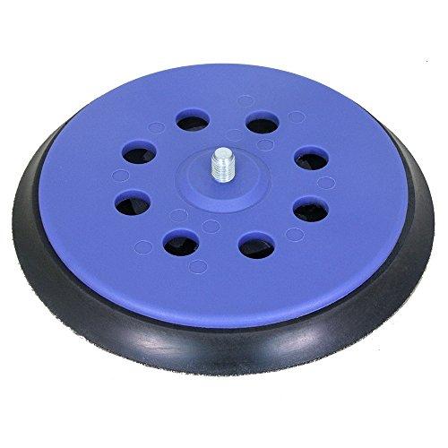 """Schleifteller hart für Exzenterschleifer mit 5/16\"""" Gewinde - für Klett-Schleifscheiben Ø 150mm mit 6-Loch Absaugung - Stützteller in hart, medium und soft verfügbar - DFS 150E 6L h"""