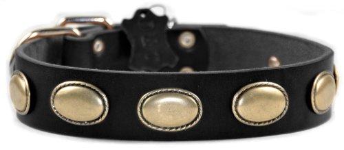 Dean & Tyler Retro Rulz Hundehalsband, aus Leder mit Messing Oval Hardware–Braun–Größe 86,4von 1–1/2–Passend für Halsumfang 32zu 91,4cm