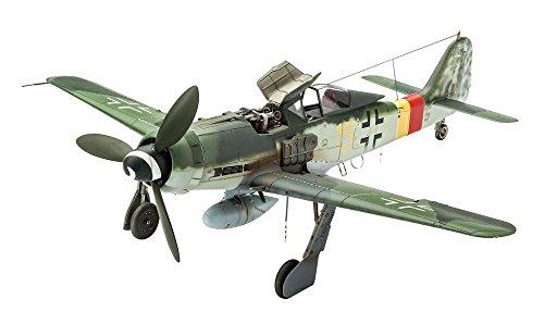 Preisvergleich Produktbild Revell Modellbausatz Flugzeug 1:48 - Focke Wulf Fw190 D-9 im Maßstab 1:48, Level 5, originalgetreue Nachbildung mit vielen Details, 03930
