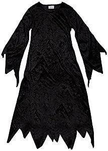 Den Goda Fen 077650-vestido de bruja Talla 5/6 años, color negro
