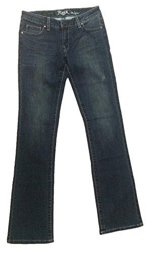 Wrangler Women's Rock 47 Sits At Hip Studded Flap Back Pocket Jean, Destructed Tint, 27x34 (Jeans Back Flap Pocket)