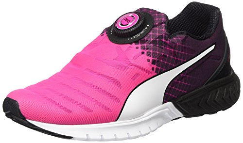Puma Ignite Dual Disc Wn's, Chaussures de Running Compétition Femme Rose (Pink/Black/White 02)