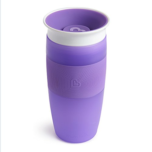 Munchkin Miracle 360ᵒ Trinkbecher, violett, 414 ml