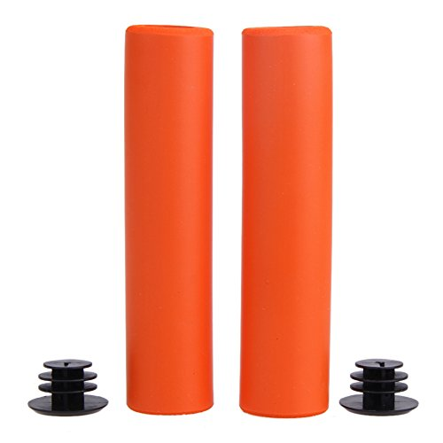Trendyest Bicycle Grips Bicycle Grips Ultralight MTB Bicycle Grip Silicone Material (Orange)