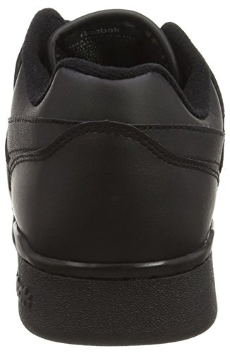 Reebok Workout Plus, Baskets Basses Garçon Noir (Black/Charcoal)