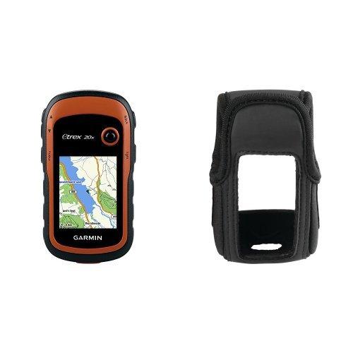 Garmin eTrex 20x Outdoor Navigationsgerät (TopoActive Karte, hochauflösendes 5,58cm (2,2 Zoll) Farbdisplay) & Garmin Tasche für eTrex 10, 20, 30