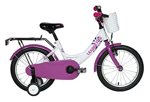 "16\"" Zoll LEADER FOX Fahrrad Kinderrad Pony Girl weiss lila mit Rücktrittbremse"