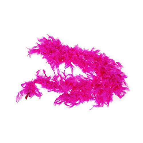 Rocita Las Plumas de la Boa de Plumas mullidas la decoración del Arte Grueso Pluma de Turquía Noche de Accesorios del Vestido de Lujo de la Aleta Boas Burlesque 2 m / 6,6 pies de Largo (Rose Red)